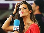 Glamorous: Iker Casillas' wife Sara Carbonero is a TV reporter for Spanish crew Mediaset
