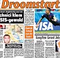 Dream start: The Dutch press have reacted in joyous fashion to their 5-1 win over Spain