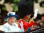 The Queen was celebrating her official birthday today with a spectacular Trooping the Colour parade