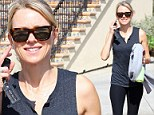 Burn baby burn! Naomi Watts shows off her gym toned body in exercise gear after doing intense fitness class which promises 'the best workout ever'
