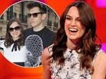 'It nearly ended in divorce': Keira Knightley admits guitar lessons with husband James Righton didn't go well during The Graham Norton Show