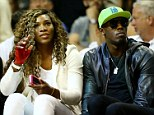 Not your average fans: Serena Williams and Usain Bolt at Game Four of the NBA finals in Miami, Florida