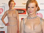 Star on parade! Nicole Kidman hits the red carpet to host Celebrate Life ball wearing stunning gown with silver embellishment