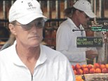 What, no apples Bruce? Mr Jenner shops for apricots and nectarines? four months after laryngeal shave