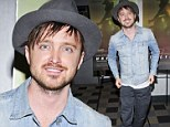 Well gel! Aaron Paul takes it back to the nineties with dubious boy band-inspired hairstyle