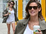 She wears short shorts! Ashley Greene displays her slender legs while on a coffee run in New York