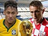Brazil take on Croatia