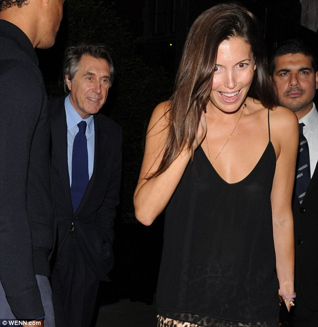High spirits: Sheppard and Ferry are inc good cheer as the leave the Chiltern Firehouse on Thursday evening