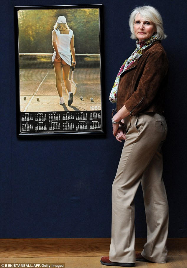 The original: Fiona Walker, seen here in 2011, was just 18 when she posed for the iconic 1976 pin-up poster