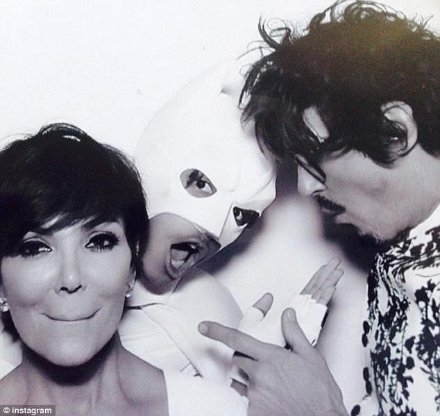 Caped crusader: Kris opened up to HuffPost Live about Jaden's white batman costume - which he wore to Kimye's wedding