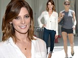 She's shedding some layers! Ashley Greene swaps out of hip hugging jeans and sheer blouse for ripped Daisy Duke shorts