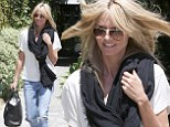 Heidi Klum, 41, was spotted leaving the Andy Lecompte salon in Beverly Hills on Thursday