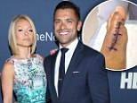 'Looks like nothing, right?' Mark Consuelos tweets wife Kelly Ripa gruesome picture of his stitched toe post surgery