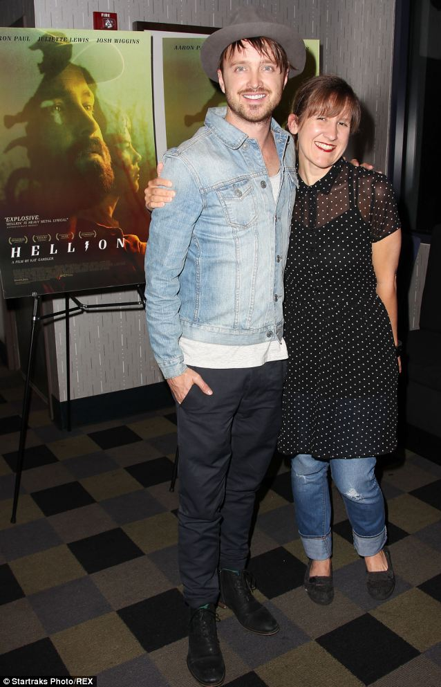 Dressed down: Paul and writer-director Kat Candler kept things casual at the film's screening in New York City
