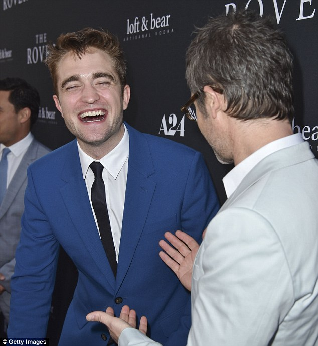 What's so funny? The 28-year-old lost his cool to have a laugh with his Australian co-star