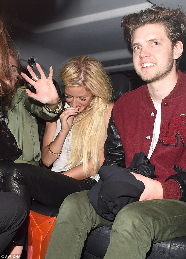 Good night? Ellie Goulding and her friends stayed at the venue until the early hours when they visited in May