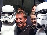 Cooking up a storm: Liverpool manager Brendan Rodgers poses with Stormtroopers