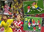 Bad start: Referee Yuichi Nishimura got a number of key decisions wrong as Brazil beat Croatia