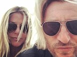 Twins? Savage sports flowing blonde locks just like his wife Sarah
