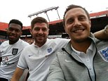 Tweet of death: Jagielka's pitch-side selfie, posted to twitter, caused something of a social media storm