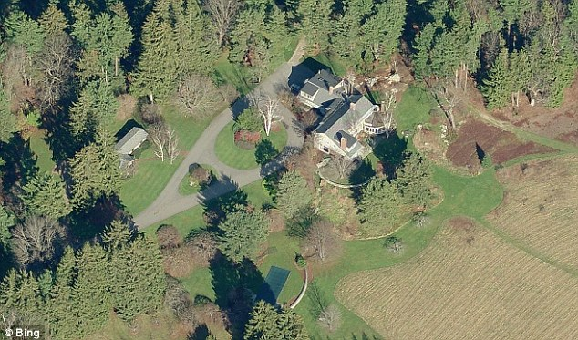 The Rockefeller estate in Falmouth, Maine. Dr Richard Rockefeller was returning home in his private plane when he crashed and died in Westchester, New York
