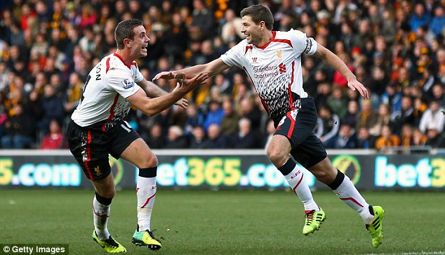 Dynamic duo: Together Henderson and Steven Gerrard (right) are a formidable presence