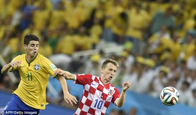 Talented: Modric is Croatia's star man and will be sorely missed in what is a must-win clash on June 18