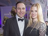 Role reversal: On Sunday, Lara Stone will be on the sidelines when husband David Walliams takes to the catwalk at Samuel L Jackson's upcoming charity ball