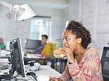 One in ten workers admits to working through their lunch according to a survey by insurer AXA PPP, file photo