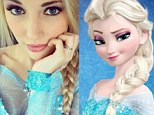 Anna Faith Carlson, 18, of Daytona Beach, Florida is a dead-ringer for the ice-queen character from Disney's Frozen