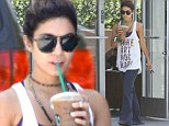 Watch your step! Vanessa Hudgens goes barefoot and wears overly long trousers for coffee run