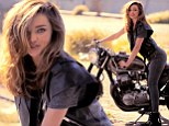 Miranda Kerr sure knew how to get hearts racing as she straddled onto a motorbike for her recent photo shoot with Net-A-Porter¿s The Edit.