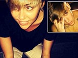 Doing the Bieber! Miley Cyrus compares herself to Justin as she tries to pull a lookalike pose