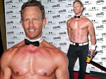 Beefy: Ian Ziering displayed his bronzed and burly figure as he returned to Chippendales at The Rio All-Suite Hotel in Las Vegas, Nevada on Saturday