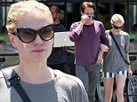 Date day! Anna Paquin shows off her slender legs in tiny cut-offs as she heads to lunch with Stephen Moyer