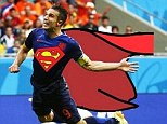 is it a bird, it is a plane? No it's an aerial Van Persie scoring against world champions Spain
