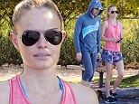 On the right track! Kate Bosworth and husband Michael Polish go for early morning work-out in matching trainers