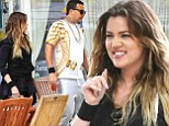 Stepping into Lamar Odom's shoes! French Montana joins girlfriend Khloe on set of Keeping Up With The Kardashians