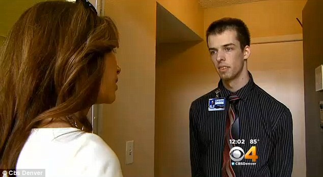 From concerned friend to number one suspect: 23-year-old Christopher Waide (right) was arrested on Thursday after confessing to killing Denver woman Lea Porter, 19. Before he was arrested, Waide gave a television interview in which he asked for help searching for the missing girl