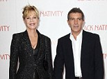 Split: Melanie Griffith filed for divorce from husband of 18 years Antonio Banderas, pictured in New York in November