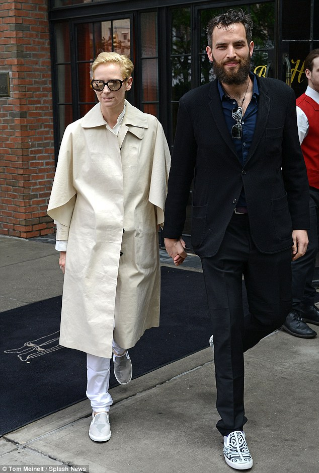Fashion forward: From the look of her outfit, Tilda Swinton could soon be auditioning for a sci-fi fantasy