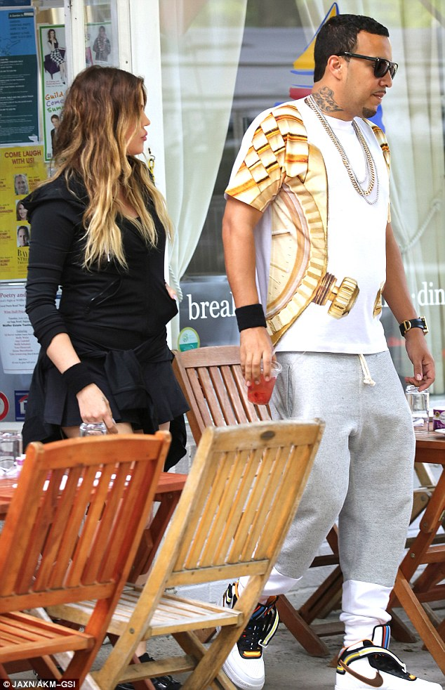 Taking over? French Montana was seen on set of Keeping Up With The Kardashians with girlfriend Khloe Kardashian on Thursday as they filmed scenes and went for lunch in The Hamptons, New York