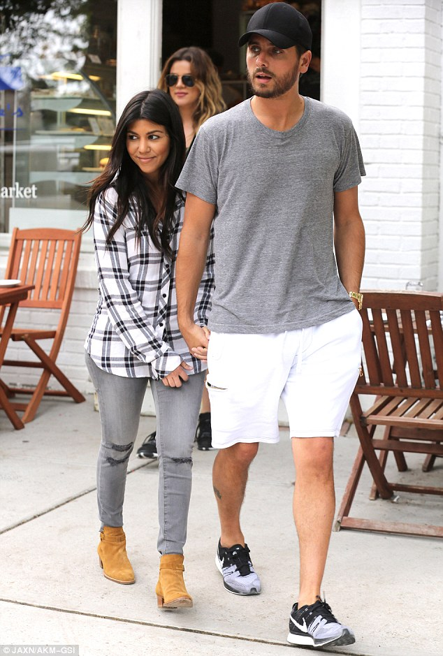 Double date? Khloe and French were joined by Kourtney and Scott who kept their hands interlocked