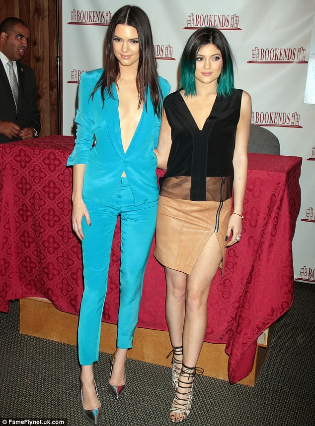 Totally teal: Kendall took the plunge in a professional chic look while on the promotional trail earlier this month
