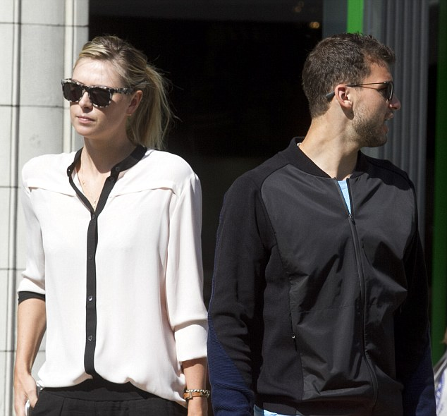 Right at home: The previous day, the stunning star enjoyed another casual stroll in Wimbledon with Grigor