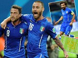 Flowing: Italy made 93.2 per cent of their passes against England