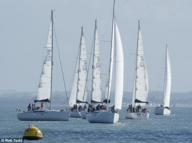 Wind in their sails: Yachts jostle for position at the taxpayer-funded regatta