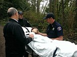 Act of kindness: Evergreen Health Hospice patient Ed, a former forest ranger, was granted his dying wish to see a forest in March. A small team took him on a hospital bed through Meadowdale Beach Park in Edmonds, Washington