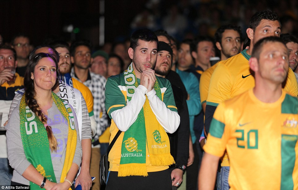 Hoping for Australia to win its first game in, the fans watched the nail biting match anticipation