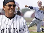 Fans come out in droves as the cast of iconic Kevin Costner baseball film Field Of Dreams reunite in Iowa to celebrate the milestone 25th anniversary